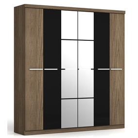 6 Puertas Cajones Espejo Moderno Placard Premium 2 Metros