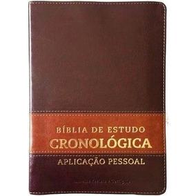 Bíblia De Estudo Cronológica Aplicação Pessoal Marrom Cpad