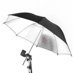 Sombrinha Rebatedor Flash Prateado Estudio Fotográfico