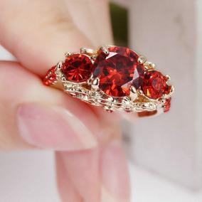 Aparador Ouro Pedras Vermelhas Vermelha - Joias e Relógios no ... c17d535305
