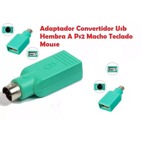 Adaptador Ps2 Hembra A Usb Macho Mouse Computadora Pc