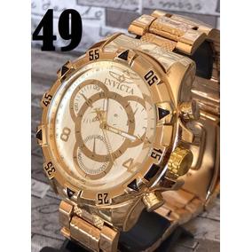 Relógio Barato Masculino Prat Dourad Relógio Top Fotos Reais