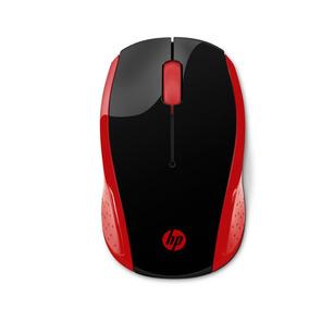 Mouse Inalambrico Hp 200 Conexion Usb - Rojo