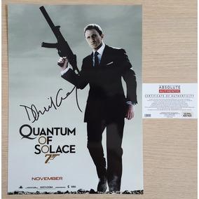007 - Quantum Of Solace Poster Autografado - James Bond