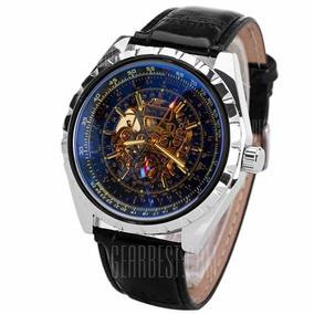 7b8551374ee Relógio Jaragar Automático Pulseira De Couro - Relógios De Pulso no ...