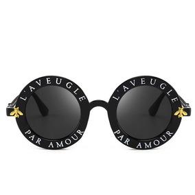4bb95bb80ee1a Óculos De Sol Gucci L Aveugle Redondo Round