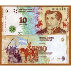 Argentina 10 Pesos 2016 P. New Fe Cédula - Tchequito