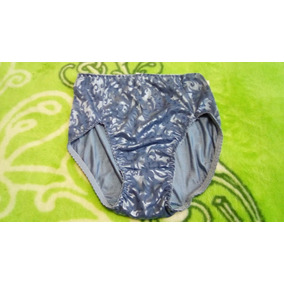 No Ilusion Pantaleta Bikini Tela Satinada Barroca Azul
