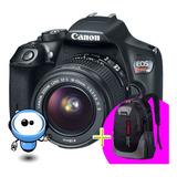 Camara Canon T6 Profesional Wifi + Lente + Memoria + Maleta!