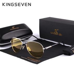 2c128093d4e98 Óculos Aviador Com Lentes Night Driving Amarelo - Óculos no Mercado ...