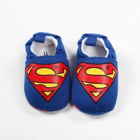 Sapatinho Infantil Bebê Meninos Primeiros Passos Super Homem