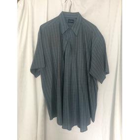 Camisa Talla Xl Casual Seminueva Azul C/gris Puritan