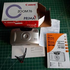 Câmera Canon Zoom 76 Prima Analógica Na Caixa Original