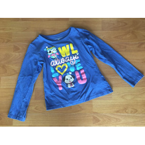 Playera Manga Larga Azul Owl American Clothing Co Talla G