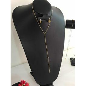 Collar Para Escote En Forma De V Moda Calidad Dorado