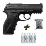 Pistola De Pressão Rossi C11 4,5mm Co2 Airgun + 6 Co2 + 500