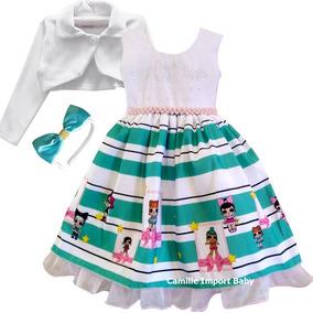 Vestido Boneca Lol Surprise Roupa Aniversário Infantil