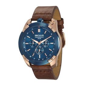 746c4834465 Relógio Masculino Aço Rose 23327gpstra1 Seculus - Relógios De Pulso ...