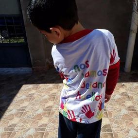 Playera Infantil Personalizada Promocional Drifit Blanca