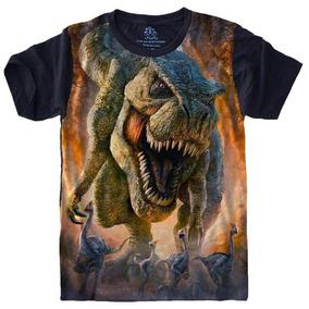 Camisa, Camiseta Psicodelicas Dinossauro Animal Customizada