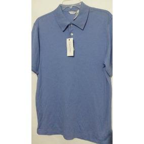 Playera Calvin Klein Liquid Cotton Azul Original