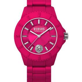 Versus Versace Reloj Sport Fiusha De Silicón Original