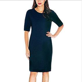 Vestido Para Dama Mario Serrani Azul Marino