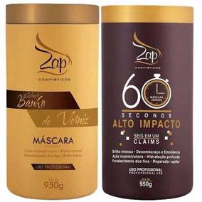 Kit Zap Máscara Banho De Verniz + Máscara Alto Impacto 950g