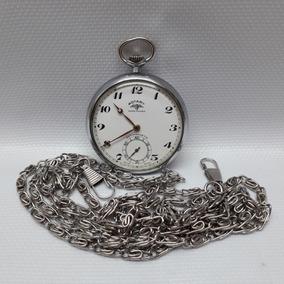 405a0600f0b Relógio De Bolso Rotary. Impecável. Com Corrente 15 Jewels.