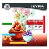Giz Pastel Seco Carre Aquarelavel Lyra Cj 24 Polycrayons