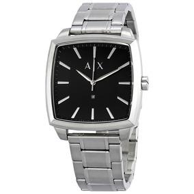 Reloj Armani Exchange Ax Ax2360 Plateado Cuadrado Original