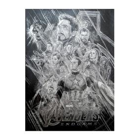 Poster Vingadores Ultimato Desenho Grafite.