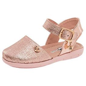 f572443d987 Zapatos De Fiesta Color Coral Sandalias - Zapatos para Niñas Dorado ...