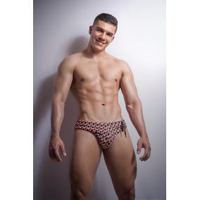 Viced Man Orange Swimwear, Deportiva Para Hombres
