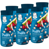 Gerber Graduates Puffs Snack De Cereales, Strawberry Appl
