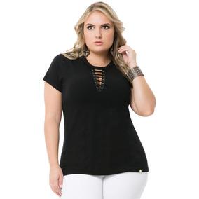Blusa Feminina Lunender - Camisetas e Blusas Manga Curta em São ... 57cf61eeb8284