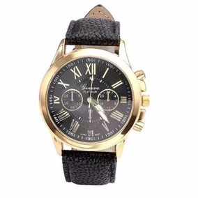 1cb546b3a01 Relogio Geneva Dourado Executivo Luxo - Relógios De Pulso no Mercado ...