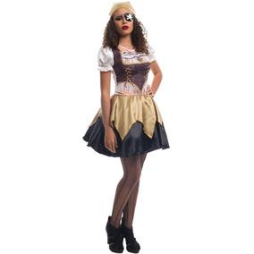 Roupa De Pirata Festa Halloween Adulto Feminino C/ Bandana