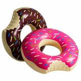 Boia Donut Gigante Chocolate Morango Piscina Praia Inflavel
