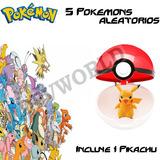Pokemon Go 1 Pokebola Pokeball + Pikachu +5 Figuras Muñecos