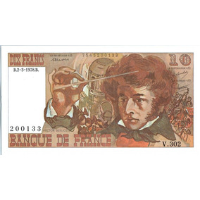 Nota Cedula Banknote France 10 Francs Berlioz 03-10-1974