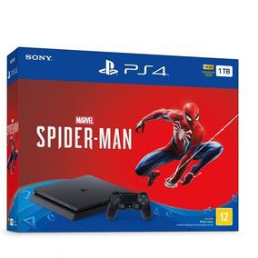 Playstation 4 Slim Ps4 1000gb + Jogo Spider Man Eua