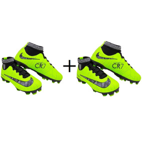 Chuteira Nike Cr7 2019 Botinha Adulto Campo Promoção 2 Pares 09887fc99297b