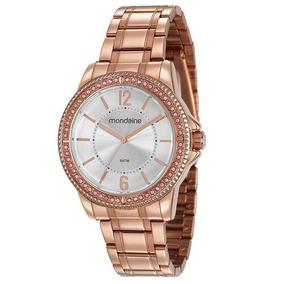 94598a29b42 Relógio Feminino Mondaine Rose Com Strass - Joias e Relógios no ...