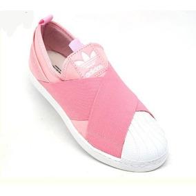Tenis Adidas Superstar Slip On Feminino Rosa Star - Calçados 0568e5abf4249