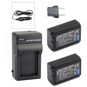 Kit 2 Baterias + Carregador Para Sony Alpha A6500