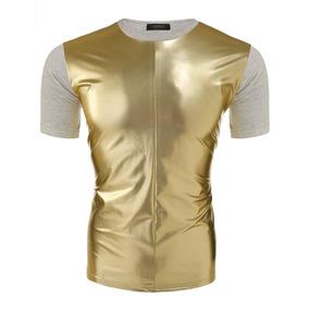Los Hombres De Moda Casual Elegante Camisetas