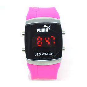 Relógio Femino De 2 Grife Luxo Puma Led Watch Rosa600199