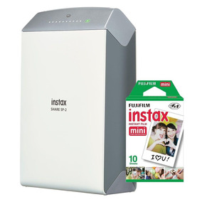 Impressora Instax Para Smartphone Fujifilm Share Sp2 Cinza