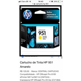 Cartuchos Hp Kit 951 E 950
